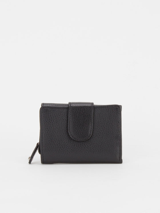 Canterbury Leather Trifold Wallet - Black