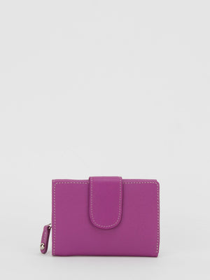 Canterbury Leather Trifold Wallet - Purple