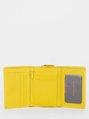 Canterbury Leather Trifold Wallet - Yellow