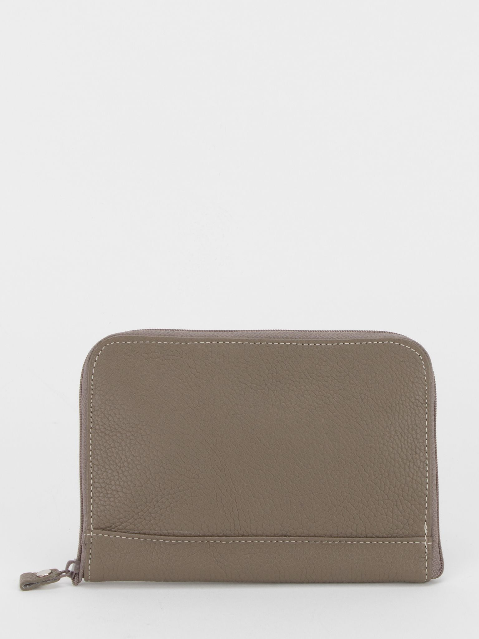 Jessica Leather Jewellery Pouch - Taupe