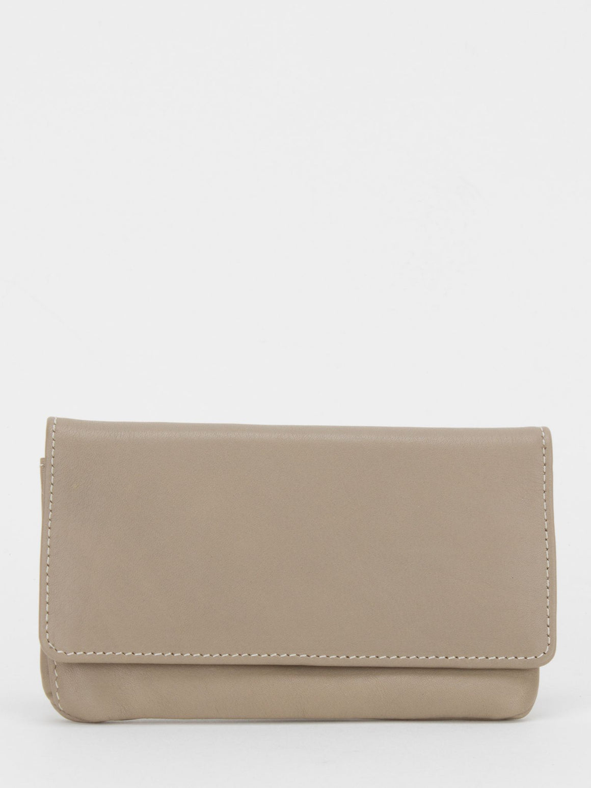 Orchid Leather Makeup Pouch - Taupe