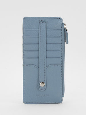 Jasmine Slim Leather Wallet - Blue