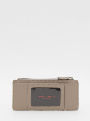 Jasmine Slim Leather Wallet - Taupe