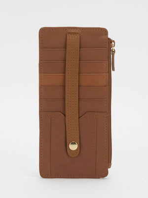 Jasmine Slim Leather Wallet - Tan