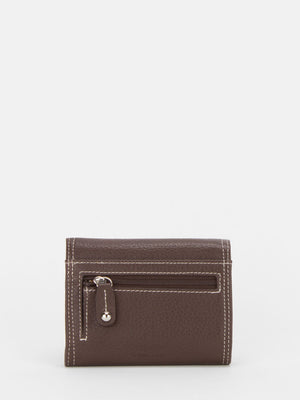 Sterling Leather Push Lock Wallet - Brown
