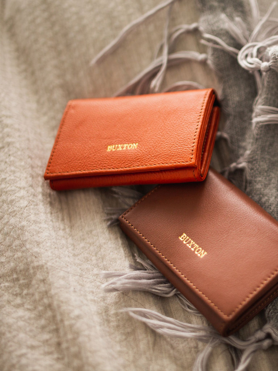 Sierra Leather Card Wallet - Pumpkin