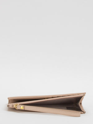 Laura Leather Wristlet Wallet - Blush