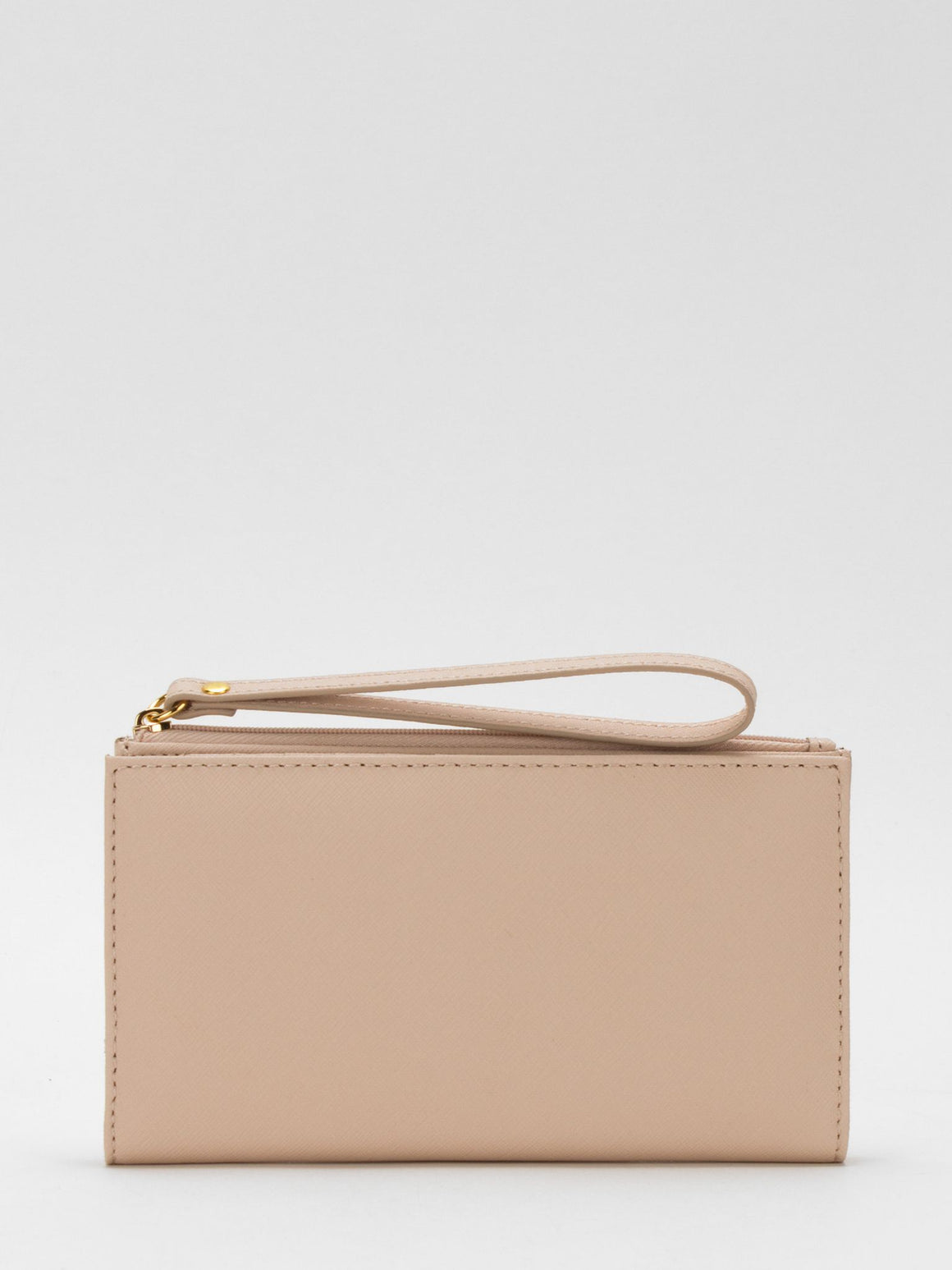 Laura Leather Long Wallet - Blush