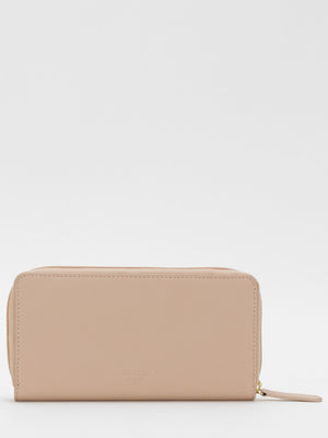 Gisele Leather Zip Around Long Wallet - Blush
