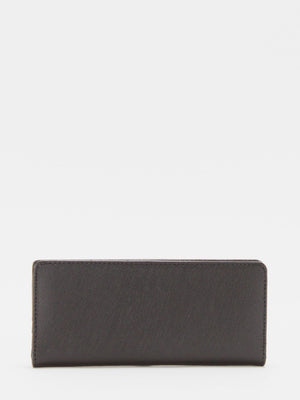 Cassidy Leather Long Wallet - Black