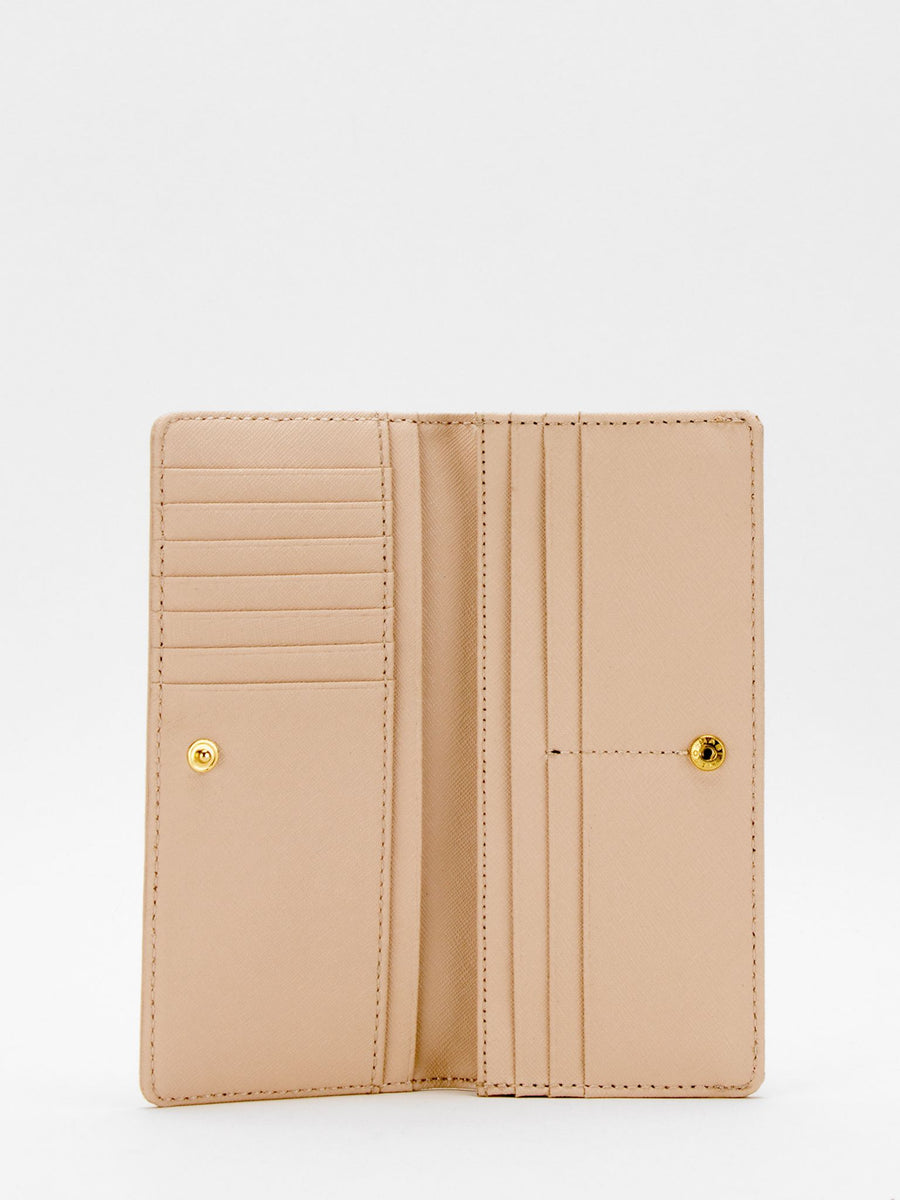 Cassidy Leather Long Wallet - Blush