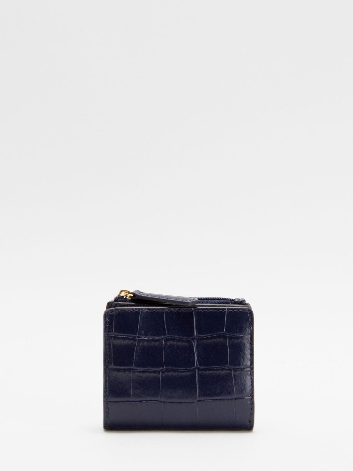 Justina Small Leather Wallet - Glazed Navy