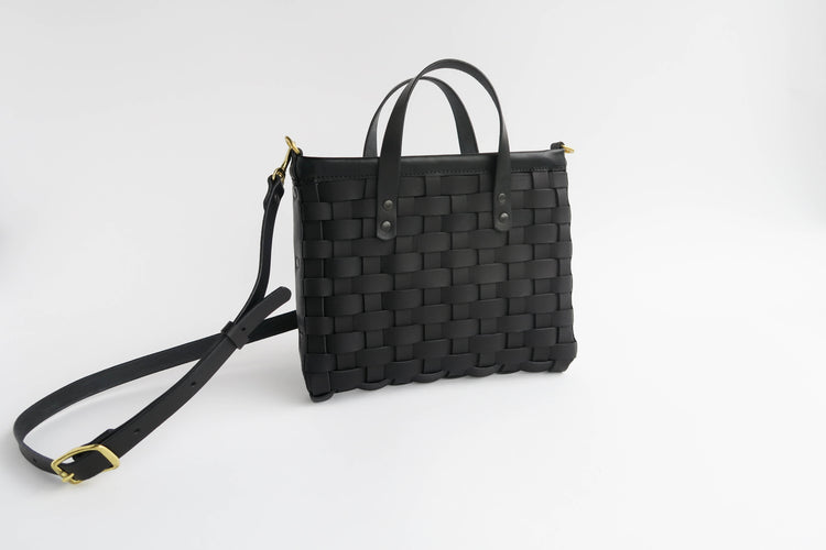 Ashley - Woven Mini Tote with zipper