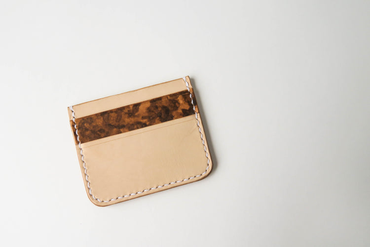 Percy - Vegetable Tan Leather Card Holder