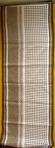 Vintage Brown and White Scarf