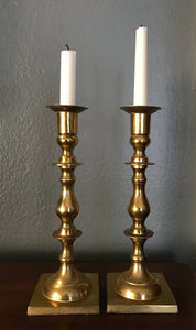 Tall Brass candlesticks