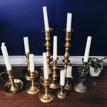 Load image into Gallery viewer, Tall Brass candlesticks