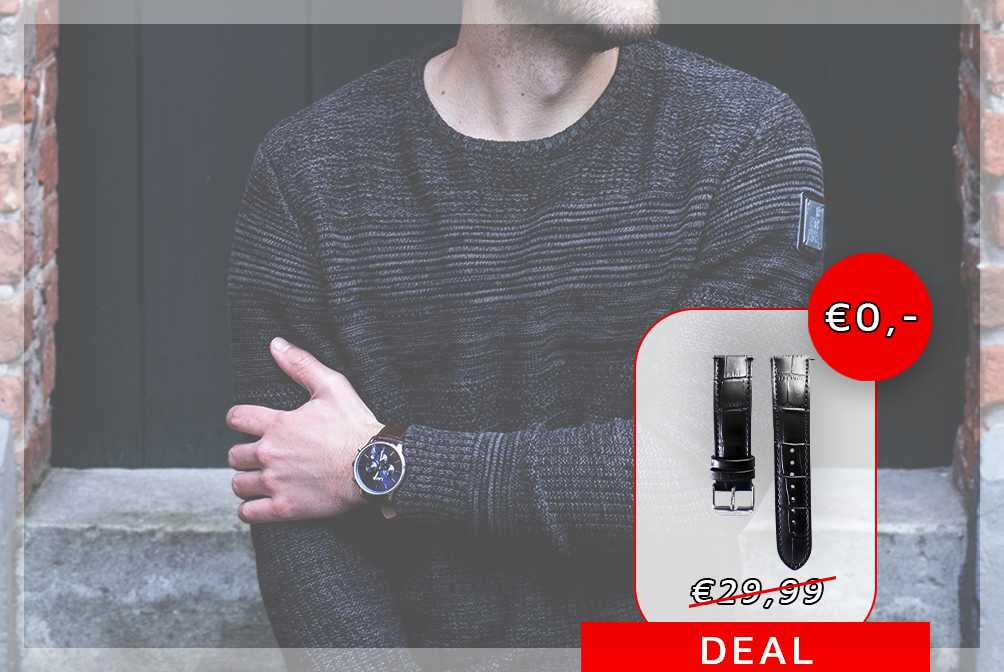 Promotion: EXTRA watch strap for free!