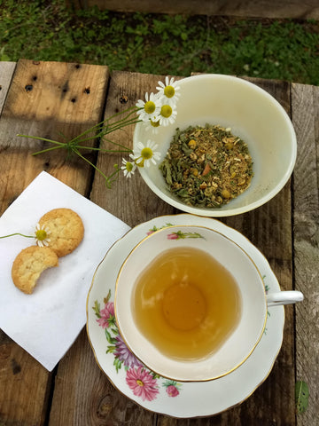 Afternoon Lift Loose Herbal Tea, chamomile, cinnamon