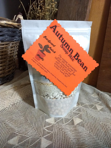 Autumn Bean Gourmet Dry Soup Mix, vegan, salt-free, chickpeas, pinto beans