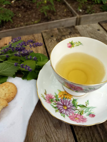 Lavender Peppermint Loose Herbal Tea, mint, lavender, no caffeine