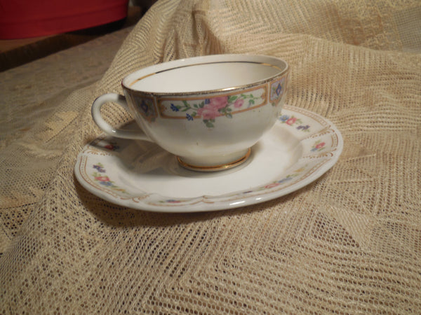 Collectible Vintage Tea Cup with Herbal Tea, hostess gift, Honey and Tea