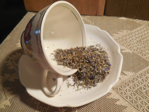 Headache Relief Loose Herbal Tea, lavender, thyme, rosemary, caffeine free