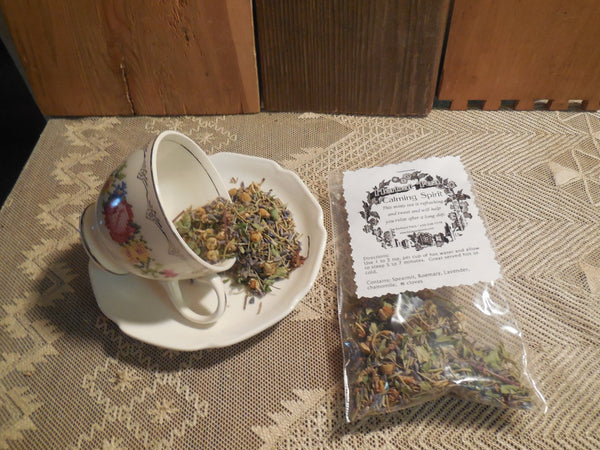 Calming Spirit Loose Herbal Tea, mint, lavender, chamomile, cloves