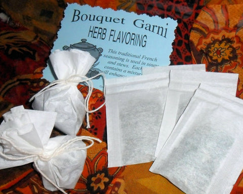 Bouquet Garni Seasoning Packets, herb seasoning for soups, stews and casseroles, bay leaf, rosemary, peppercorns