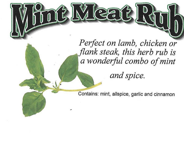 Mint Meat Rub Mix, Hand-blended salt-free dry Herb Mix for grilling and cooking