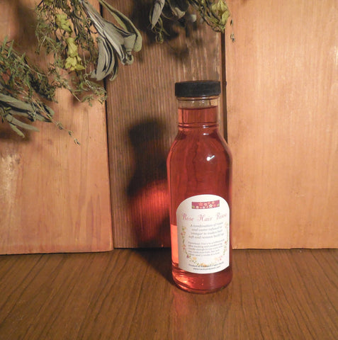 Rose Hair Rinse, remove residue with this safe herbal treatment