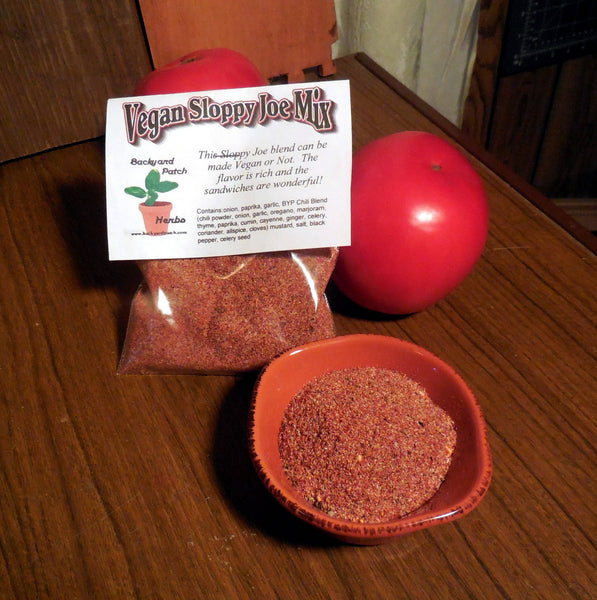 Vegan Sloppy Joe Mix, Hand-blended dry Herb Seasoning Mix, gluten free, vegan