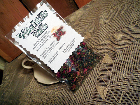 Holiday Tea Blend, Holiday Holy Basil Tea, Tulsi Tea, Lemon Balm, Elderflower, Rose petals