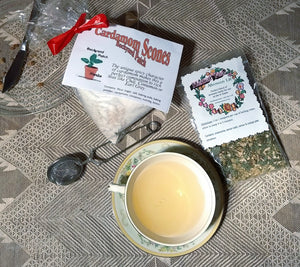 Scone and Tea Gift Set - Cardamom Scone Dry Mix and Afternoon Lift Herb Tea, gift set, gift basket, cinnamon, chamomile