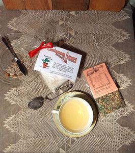 Scone and Tea Gift Package, Cardamom Scones and Cinnamon Spice Herb Tea, Caffeine-Free