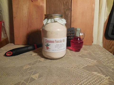 Cinnamon Pancake Mix In a Jar, Home-made, Hand-blended