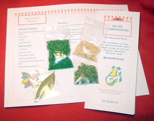 Recipe Ratatouille packaged with Herbs, ready-to-make, lets you be a chef, vegetable, salt-free, gluten-free, dry mix