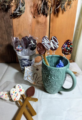 Chocolate Dipped Spoons for Coffee,and Tea and Hot Cocoa, coffee flavoring