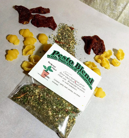 Sun-dried Tomato Pesto Blend Herb Sauce Mix, dry herbs, no salt, gluten free