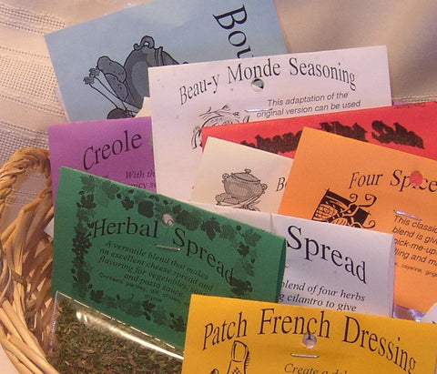 SPUD COLLECTION Set of 5 Dry Herb Mixes, hand-blended, home grown herb mixes for potatoes, no salt, no gluten, no MSG