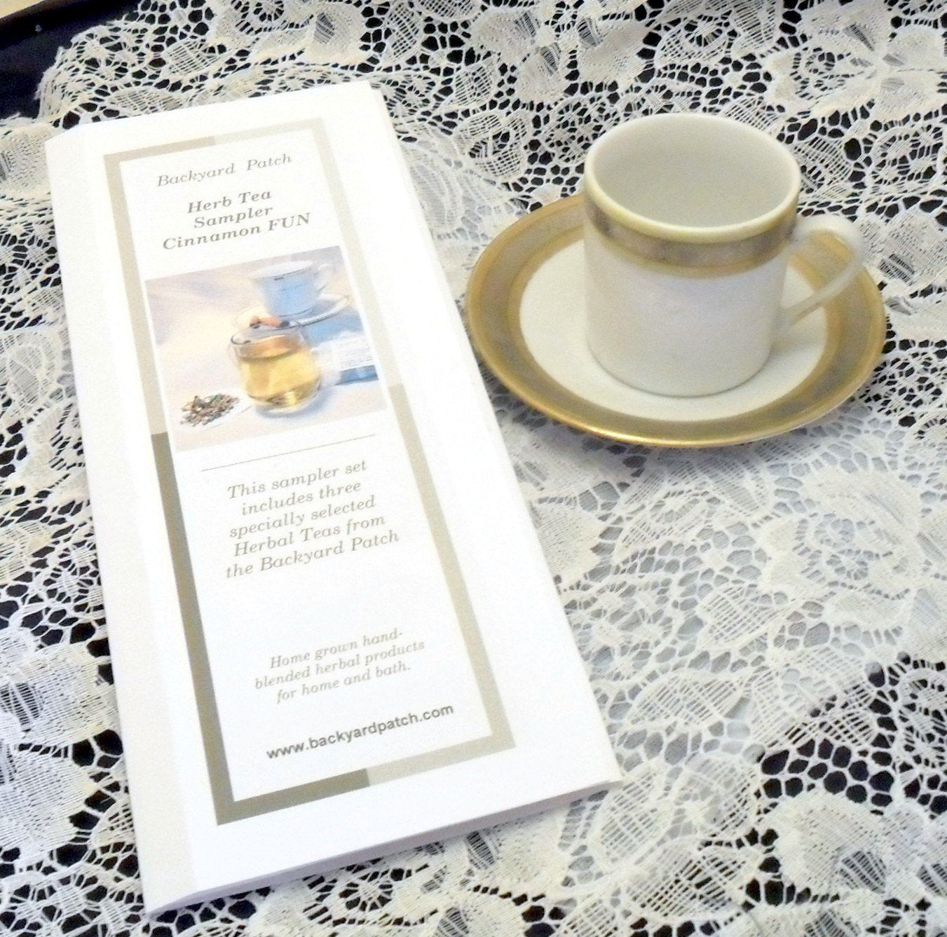Sampler of Tea Samplers - Hostess Special - each a set of 3 herb teas, cinnamon, chamomile, mint, lavender