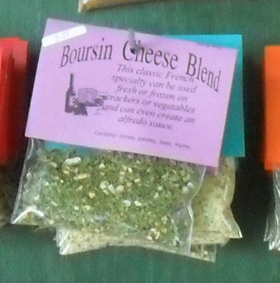 Boursin Cheese Blend, Hand-blended, salt-free, dry Herb Mix, cream cheese mix, savory herbs and garlic