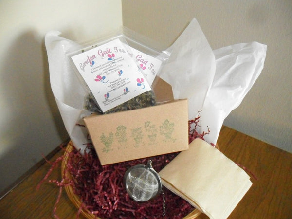 Subscription Herb Tea Monthly - 12 months, two bags of tea, tea infuser, enough for 30 cups of tea