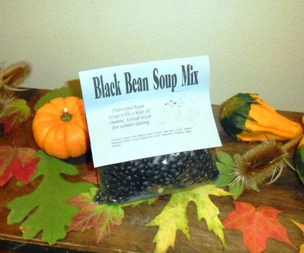 Black Bean Gourmet Dry Soup Mix, vegan