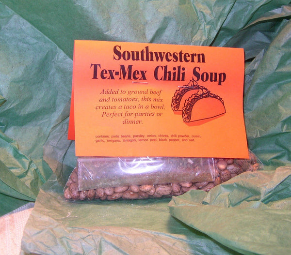Southwest Tex Mex Chili Soup Mix, Gourmet Soup at home, dry mix