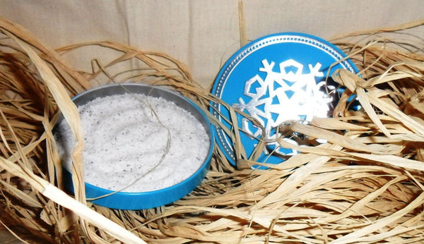 Warming Winter Bath Salts, Epsom salts, baking soda, essential oils