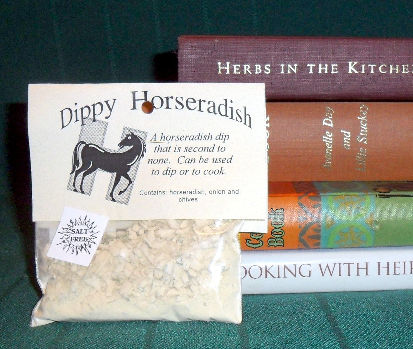 Horseradish Dip Mix, Hand-blended Herb Mix, no salt, chives, dry mix, salt free