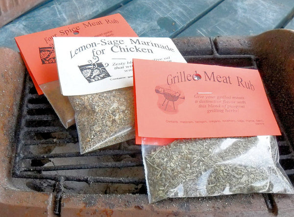 Set of Herb Mixes for grilling