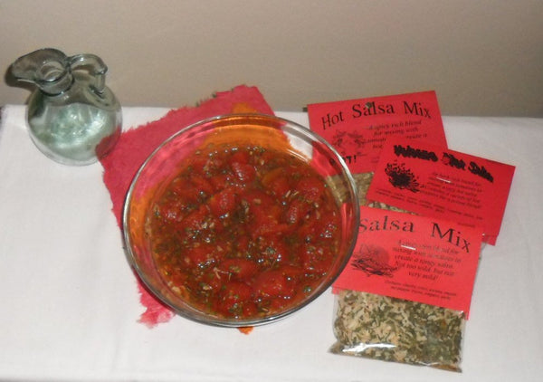 Salsa Gift Bowl with two Herb Mixes, salsa, Fiesta Dip,