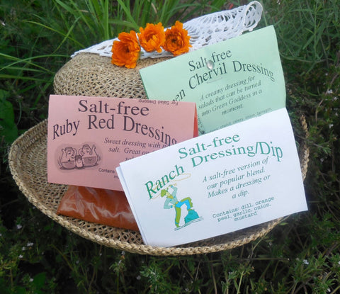 Salt-Free Salad Dressing Mixes, set of five
